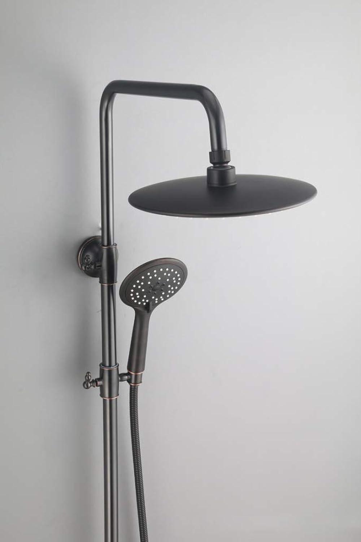 LHW Shower Set, Black Ancient, Copper, Shower Set, American, Black, Vintage, Shower Set, European Style Shower