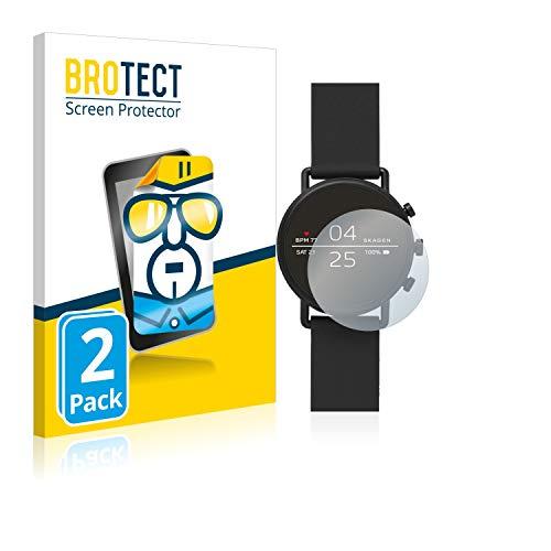 BROTECT Schutzfolie kompatibel mit Skagen Smartwatch Falster 2 (2 Stück) klare Bildschirmschutz-Folie