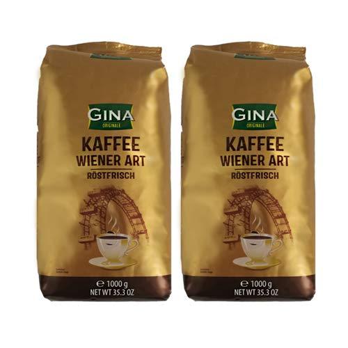Gina Originale Kaffee Wiener Art röstfrische Kaffeebohnen 2x 1000g (2000g) - Wiener Kaffee