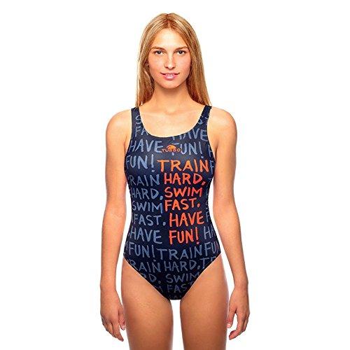Turbo Power Train Hard Bragas de Bikini, Noir, Small para Mujer