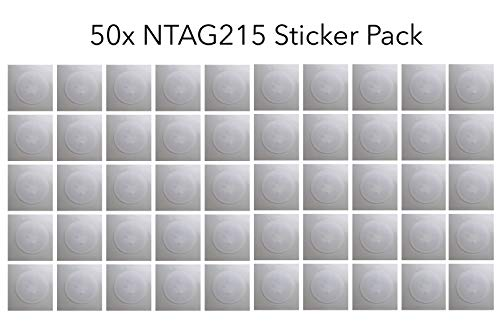 GreatestDeals 50x NTAG215 25mm NFC Stickers 100% Guaranteed to Work Perfectly with TagMo! (45 Pieces + 5 Bonus!) (50)