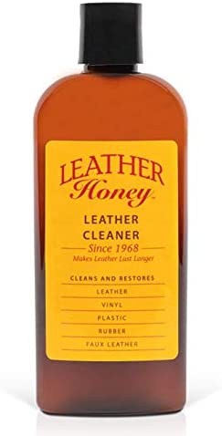 Leather Cleaner by Leather Honey: The Best Leather Cleaner for Vinyl and Leather Apparel, Furniture, Auto Interior, Shoes and Accessories. Does Not Require Dilution. Ready to Use, 8 Ounce Bottle!