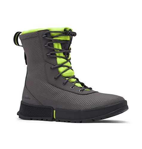 Columbia Men's Hyper-Boreal Omni-Heat Tall Snow Boot, Dark Grey/Acid Green, 12