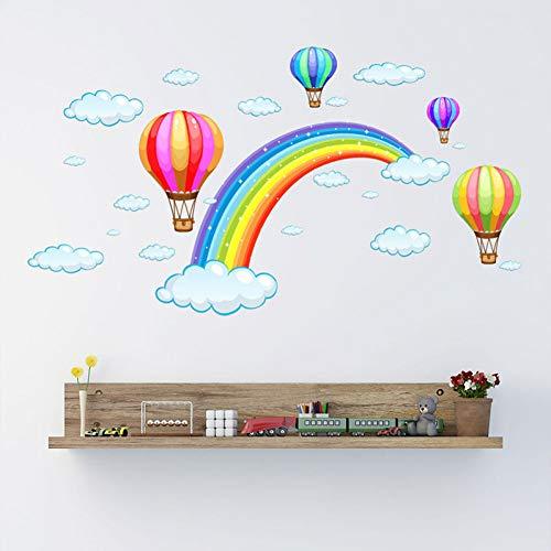 TAOYUE handbeschilderde regenboog hete lucht ballon muur Stickers voor kinderen kamer huisdecoratie muurstickers woonkamer slaapkamer muurschildering huisdecoratie