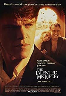 The Talented Mr. Ripley Movie Matt Damon Poster Prints Wall Art Decor Unframed,32x22 16x12 Inches,Multiple Patterns Available