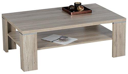 Stella Trading Osaka Couchtisch, Holz, San Remo Eiche Dunkel, 110 x 70 x 40 cm