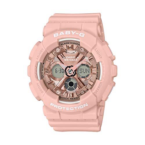 Casio Baby-G Analog-Digital Rose Gold Dial Women's Watch BA-130-4ADR(BX167)