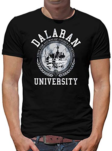 TShirt-People Dalaran University T-Shirt Herren Wow Nerd Gamer XL Schwarz