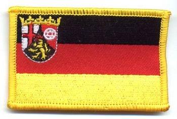 Flaggen Aufnäher Patch Rheinland - Pfalz Fahne NEU