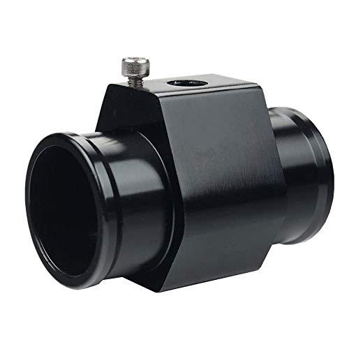 Universal Water Temp Joint Pipe Water Temp Temperature Joint Pipe Sensor Gauge Radiator Hose Adapter, (Black, 26mm)