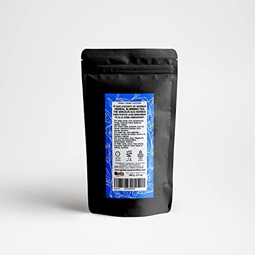Tisanas. Té Adelgazante de Hierbas. Con mate verde, escaramujo, hinojo, regaliz, anís y hojas de mora y hojas de abedul. No aromatizado. (100 gr)