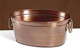 8 gal Antique Copper Beverage Tub with Rope Handles, G.E.T. BT-2215-ACPR