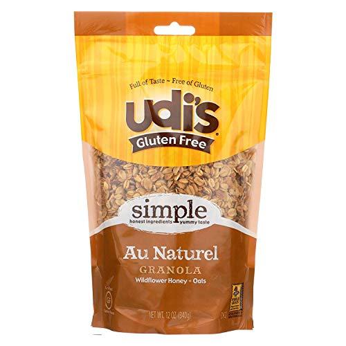 Udis Granola - no Gluten Au Naturel - Yummy Taste - Case of 6 - 12 Ounce