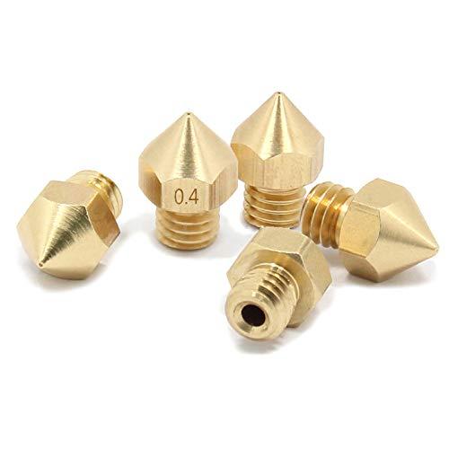 Ugello estrusore MK8 per stampante 3D, 0,4 mm (D103) 3,0 mm, ugello filamento CTC Wanhao MK9, 0.4mm, 5