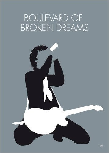 Póster 13 x 18 cm: No117 MY Green Day Minimal Music Poster de chungkong - impresión artística, Nuevo póster artístico