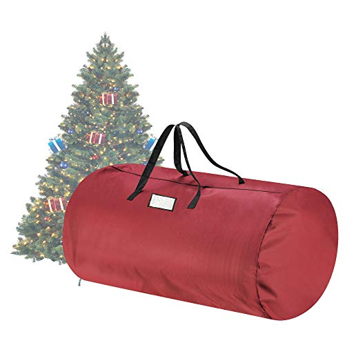 Tiny Tim Totes 83-DT5563 Canvas Christmas Storage Bag | Extra Large For 12 Foot Tree | Red, Twin