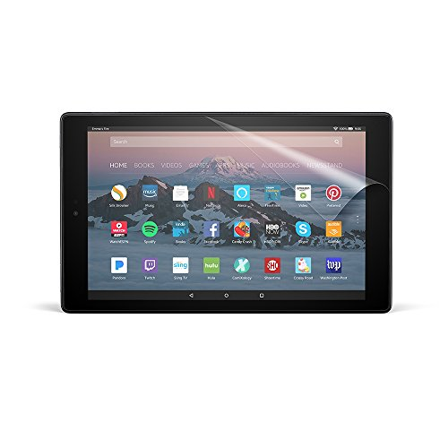 NuPro Clear Screen Protector for Amazon Fire HD 10 Tablet (7th & 9th Generations - 2017 & 2019 releases) (2-Pack)