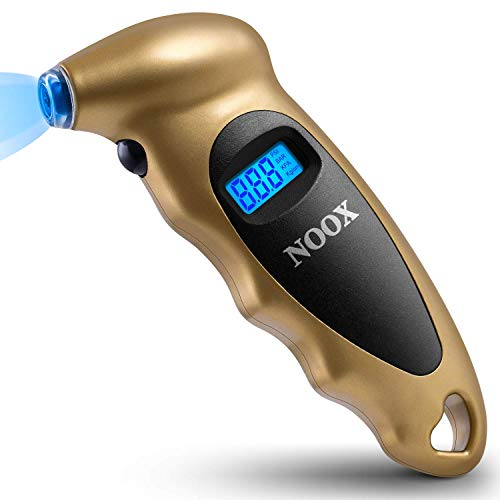 NOOX Digital Tire Pressure Gauge Car Accessories for Women & Men 150 PSI Low Tire Pressure Check Tool for Car Truck Motocycle Bicycle Jeep Sedan Limousine Wagon Tires TG883 - Gold