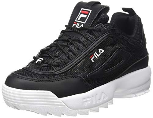 FILA Disruptor A kids Sneaker Unisex - Bambini, Nero (Black/Leopard), 39 EU