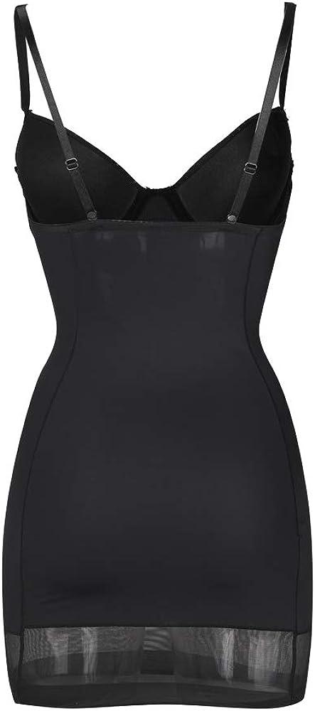 HOMETA Women's Shapewear Dress Full Body Shaper Underwire Bra Body Slimmer Tummy Control Slip