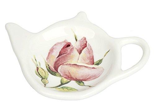 Ideal Home Range Ihr Porcelain Tea Bag Holder Rambling rose crema