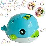 Amasawa Máquina Automática de Burbujas,Bubble Mania Whale,Bubble Maker Portátil,Juguete Burbujas Jardin Niños,para Fiestas Boda Baby Showers Interior / Exterior, Niños Niñas Niños Pequeños Niños