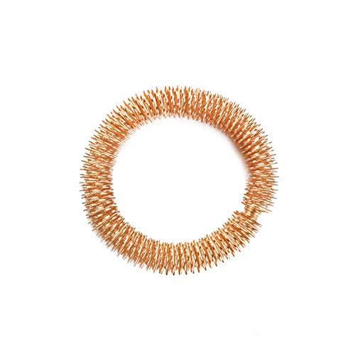 Akupressur Armband Massagering Yin Yang Akupressurring Akupunkturringe Fingermassageringe Finger Massage Ring für Handgelenk Entspannung (Golden)