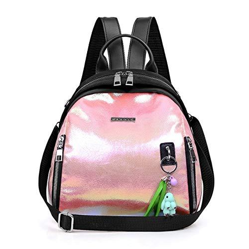 QPYYBR Mochila para mujer con letras casuales, mochila de viaje de bolsillo multifunción, mochila escolar para estudiantes, bolso de hombro para niña, pequeño