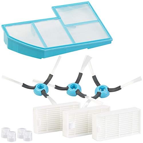 PEARL Zubehör zu Mehrzweck-Saug-Roboter: Filter-, Bürsten- und Sprühdüsen-Set für Saug- & Wisch-Roboter (Fußbodenreiniger-Wischroboter)
