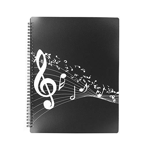 MusicThemed Folder, Music File Folder A4-Format Notenordner Wasserdichter ABS-Musikordner Aufbewahrungshalter für Klaviergitarren-Musikinstrumentenzubehör