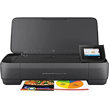 HP OfficeJet 250 All-in-One Portable Printer with Wireless & Mobile Printing Works with Alexa  CZ992A  Black Normal