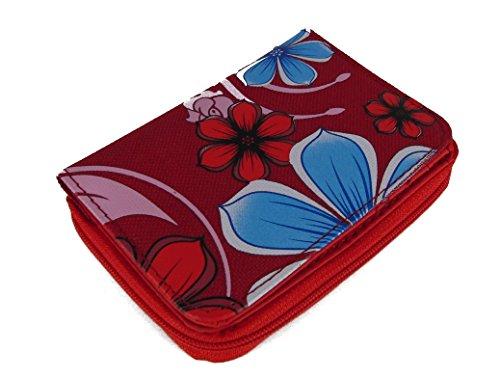 STEFANO kinderbagage roze/rood bloemen trolley Kitatas rugzak tas portemonnee of 4 TLG. set.