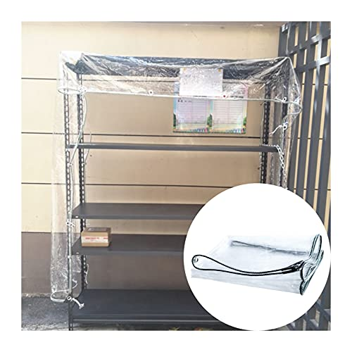 ZHANWEI Lona Impermeable Transparente, Multifunción Transparente Cortinas Vidrio Suave, 0,5 Mm De Espesor CLORURO DE...