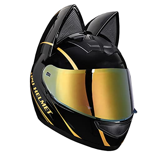 SACKDERTY Adult Full Face Motorcycle Helmet, DOT Certified Helmets Bike Cruiser, Tinted Visor Motorbike Street Sport Helmet