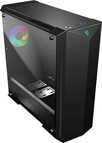 MSI Premium Mid-Tower PC Gaming Case – Tempered Glass Side...