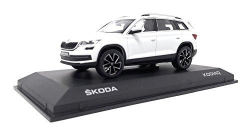 Norev DieCast Metall Miniaturmodelle Modellauto 1:43 Skoda Kodiaq weiss Kunststoff Vitrine