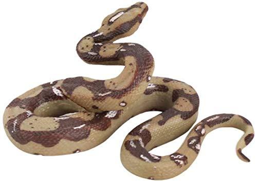 JJDSN Estatua de Serpiente, estatuilla de plástico, Juguete de Serpiente, Figura de Animal Salvaje Realista, simulación, decoración de Mesa de Serpiente, Accesorio de Broma
