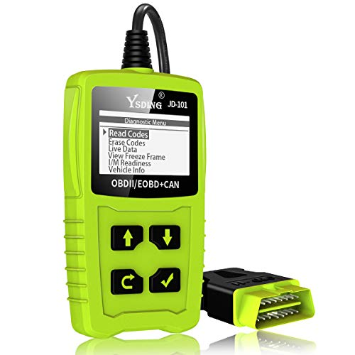OBD2 Auto Diagnóstico,OBD II Escáner Motor Detector de Fallas Eliminar Códigos Error,Adecuado para Coche con Modo OBD2 / EOBD/Can e Interfaz OBDII de 16 Pin, Detección de Estado de Batería