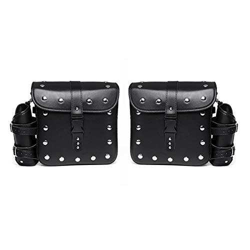 wenxin 1 Pair Brown/Black Universal PU Leather Motorcycle Tool Bag Luggage Saddlebags Trunk Sportster,Motorcycle Seat Bag (Color Name : Type I)