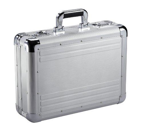 Alu Laptop Aktenkoffer Pilotenkoffer Aluminiumkoffer 45cm Silber Dermata Bowatex