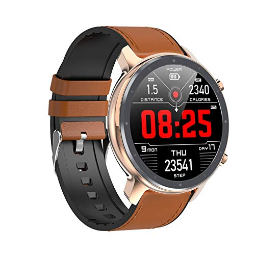 Nuevo DIY Reloj Face Hombres Smart Watch L11 Y 24 Horas Monitor De Ritmo Cardíaco IP68 Impermeable Smart Band Support Multi-Sports (Color : Golden)