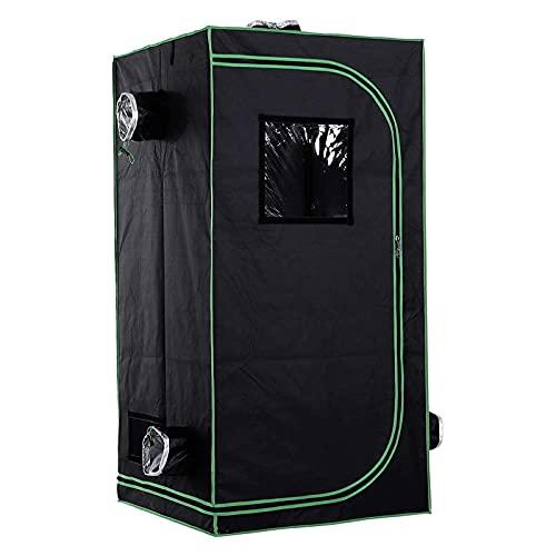 AJLDN Armario Cultivo Interior, 80x80x160cm Mylar HidropÓNica Crecer Tienda Water-Resistant Grow Tent Caja...