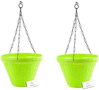 Unique Plastic Hanging Pot with Metal Chain