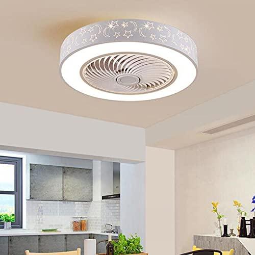 LEDMO Ventilatore a Soffitto con Lampada, Ventilatore per soffitto Moderno creatività con Telecomando Ventilatore da soffitto a LED Ultra-Silenzioso Infinito dimmerabile ventilatori da soffitto