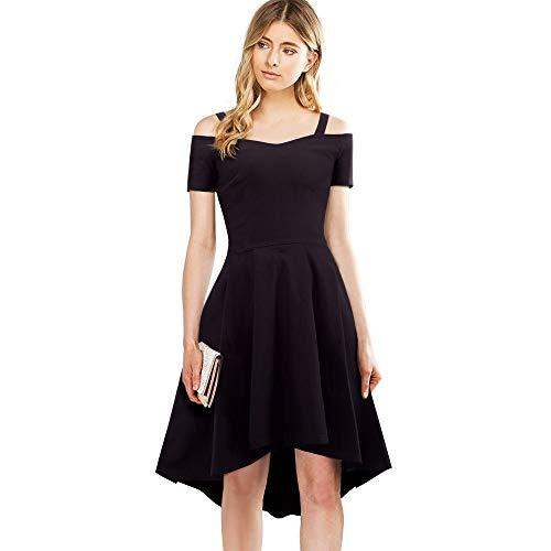 GMZA Nice-forever elegante stijlvolle werkriem slash hals een lijn jurk asymmetrische onregelmatige lengte vrouwen casual flare jurk