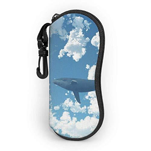 GOSMAO Funda Gafas Ballena en el cielo Neopreno Estuche Ligero con Cremallera Suave Gafas Almacenaje