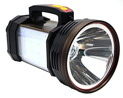 12000 lúmenes al aire libre ultra brillante USB recargable linterna antorcha potente LED portátil proyector con luz blanca y luz azul, 6 modelo 15000 mAh mei SKYJIE