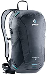 Deuter® gets you up and running with the lightweight Speed Lite 16 pack. Lightweight daypack with multiple options for load management. Compatible with most 3L hydration bladders, and features tube opening and hose holder. Tensioned Delrin® U Frame i...