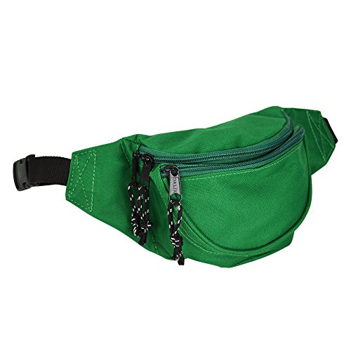 DALIX Fanny Pack w/ 3 Pockets Traveling Concealment Pouch Airport Money Bag (Green)