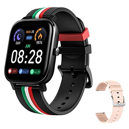ZGLXZ MT2 Smartwatch Bluetooth Call Graber 4G Memory Medidor De Memoria Monitoreo Monitoreo Multifunción Smart Watch para Hombres Y Mujeres para iOS Android,B